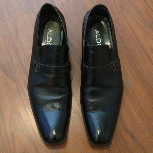 Aldo Classic Men's Dress Shoes Black Size 42